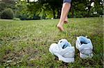 Jogger Running Barefoot Stock Photo - Premium Royalty-Free, Artist: AlaskaStock, Code: 622-02621592