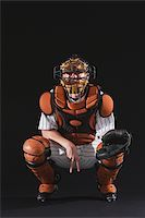 professional baseball game - Baseball catcher catching ball Stock Photo - Premium Royalty-Freenull, Code: 622-02621700