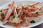 Steamed Crab with Lemon Grass Dressing    Stock Photo - Premium Rights-Managed, Artist: foodanddrinkphotos, Code: 824-02625332