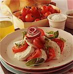 Tomato and Mozzarella Salad    Stock Photo - Premium Rights-Managed, Artist: foodanddrinkphotos, Code: 824-02625503