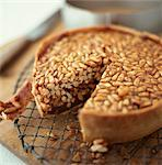 Pinenut Tart    Stock Photo - Premium Rights-Managed, Artist: foodanddrinkphotos, Code: 824-02625515
