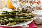 Barbecued Asparagus    Stock Photo - Premium Rights-Managed, Artist: foodanddrinkphotos, Code: 824-02625555