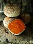 Mimolette    Stock Photo - Premium Rights-Managed, Artist: foodanddrinkphotos, Code: 824-02625598