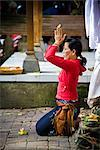 Balinese Woman at Prayer, Ubud, Bali, Indonesia    Stock Photo - Premium Rights-Managed, Artist: R. Ian Lloyd, Code: 700-02633571