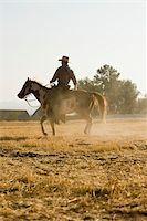 A cowboy riding a horse Stock Photo - Premium Royalty-Freenull, Code: 653-02634411