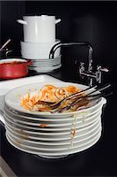 Dirty Plates    Stock Photo - Premium Rights-Managednull, Code: 700-02637500