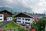 Exterior of Houses in Garmisch-Partenkirchen, Bavaria, Germany