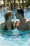 Portrait of Couple in Swimming Pool    Stock Photo - Premium Rights-Managed, Artist: Harald Vorsteher, Code: 700-02645895