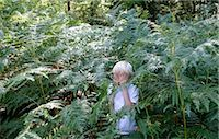 Boy hiding in ferns Stock Photo - Premium Royalty-Freenull, Code: 649-02666009