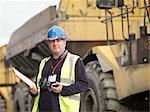 Ecologist With Heavy Machinery Stock Photo - Premium Royalty-Free, Artist: Cusp and Flirt, Code: 649-02666706