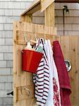 Outdoor Shower Stall    Stock Photo - Premium Rights-Managed, Artist: Yvonne Duivenvoorden, Code: 700-02669175