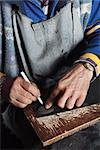 Close-up of Italian Shoemaker Making a New Heel    Stock Photo - Premium Royalty-Free, Artist: Siephoto, Code: 600-02669671
