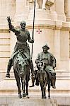 Statues of Don Quixote and Sancho Panza, Plaza de Espana, Madrid, Spain    Stock Photo - Premium Rights-Managed, Artist: Alberto Biscaro, Code: 700-02669885
