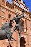 Plaza de Toros de Las Ventas, Madrid, Spain    Stock Photo - Premium Rights-Managed, Artist: Alberto Biscaro, Code: 700-02670055