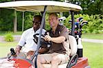 Men in Golf Cart, Burlington, Ontario, Canada