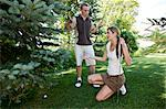 Golfers with Ball in Rough, Burlington, Ontario, Canada    Stock Photo - Premium Royalty-Free, Artist: Blue Images Online, Code: 600-02670423