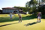 Couples Golfing, Burlington, Ontario, Canada