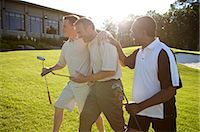 Men on Golf Course, Burlington, Ontario, Canada    Stock Photo - Premium Royalty-Freenull, Code: 600-02670451