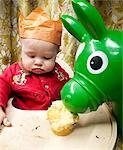 Baby Boy's First Birthday    Stock Photo - Premium Rights-Managed, Artist: Brian Kuhlmann, Code: 700-02670533
