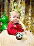 Baby Boy's First Birthday    Stock Photo - Premium Rights-Managed, Artist: Brian Kuhlmann, Code: 700-02670534
