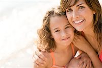 Mother and daughter at a beach. Stock Photo - Premium Royalty-Freenull, Code: 679-02683976
