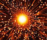 Supernova explosion, computer artwork. Supernovas are the explosive deaths of massive stars. Stock Photo - Premium Royalty-Freenull, Code: 679-02684678