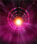 Supernova explosion, computer artwork. Supernovas are the explosive deaths of massive stars. Stock Photo - Premium Royalty-Freenull, Code: 679-02684680