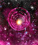 Supernova explosion, computer artwork. Supernovas are the explosive deaths of massive stars. Stock Photo - Premium Royalty-Freenull, Code: 679-02684682