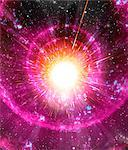 Supernova explosion, computer artwork. Supernovas are the explosive deaths of massive stars. Stock Photo - Premium Royalty-Freenull, Code: 679-02684683