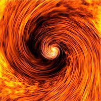 Cosmic wave, conceptual computer artwork. Spinning black hole dragging the fabric of space and time into its centre. Stock Photo - Premium Royalty-Freenull, Code: 679-02684704