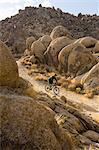 Man Mountain Biking, Alabama Hills, Lone Pine, Inyo County, Owens Valley, Sierra Nevada Range, California, USA    Stock Photo - Premium Rights-Managed, Artist: Lalove Benedict, Code: 700-02686537
