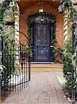 Entrance to Upscale Home Decorated for Christmas    Stock Photo - Premium Rights-Managed, Artist: Natasha Nicholson, Code: 700-02686580