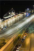 Sweden, Stockholm, brightly illuminated street at night Stock Photo - Premium Royalty-Freenull, Code: 633-02691300