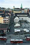 Sweden, Stockholm, Slussen, Rysstorget Square, elevated view Stock Photo - Premium Royalty-Free, Artist: Garry Black, Code: 633-02691301