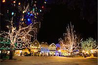 small town snow - Christmas Lights in the Bavarian-themed Town of Leavenworth, Washington, USA    Stock Photo - Premium Royalty-Freenull, Code: 600-02693471