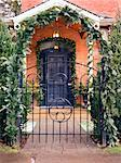 Entrance to House Decorated for Christmas    Stock Photo - Premium Rights-Managed, Artist: Natasha Nicholson, Code: 700-02693404
