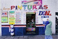Paint Store, Queretaro, Mexico    Stock Photo - Premium Royalty-Freenull, Code: 600-02694275