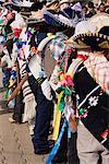 Purepecha Young Men, Festival El Levantamiento del Nino Dios, Sevina, Michoacan, Mexico