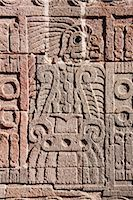Carving in Quetzalpapalotl Palace, Teotihuacan Archaeological Site, Mexico    Stock Photo - Premium Royalty-Freenull, Code: 600-02694318