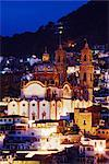 Church of Santa Prisca at Dawn, Taxco, Guerrero, Mexico