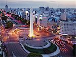 El Obelisco, Avenida 9 de Julio, Buenos Aires, Argentina    Stock Photo - Premium Rights-Managed, Artist: Jeremy Woodhouse, Code: 700-02694399