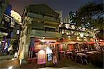 Exterior of Restaurant at Night, Sshanghai, China    Stock Photo - Premium Rights-Managed, Artist: Mark Downey, Code: 700-02700812
