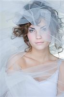 Portrait of Woman Covered in Crinoline    Stock Photo - Premium Rights-Managednull, Code: 700-02701012