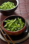 Bowls of Edamame and Soybeans    Stock Photo - Premium Rights-Managed, Artist: Nora Good, Code: 700-02701369