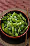 Bowl of Salted Edamame    Stock Photo - Premium Rights-Managed, Artist: Nora Good, Code: 700-02701372