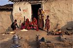 Village life, near Deogarh, Rajasthan state, India, Asia