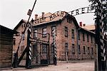 Entrance gate with lettering Arbeit macht frei, Auschwitz Concentration Camp, UNESCO World Heritage Site, Makopolska, Poland, Europe    Stock Photo - Premium Rights-Managed, Artist: Robert Harding Images, Code: 841-02703404