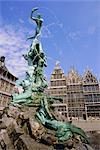 Brabo Statue, Antwerp, Belgium    Stock Photo - Premium Rights-Managed, Artist: Robert Harding Images, Code: 841-02703568