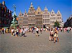 Restored Guildhouses, and the Brabo Fountain, Grote Markt, Antwerp, Belgium    Stock Photo - Premium Rights-Managed, Artist: Robert Harding Images, Code: 841-02703816