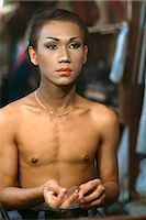 A gay boy preparing backstage for a show at the Rome Club Disco in Patpong in Bangkok, Thailand, Southeast Asia, Asia    Stock Photo - Premium Rights-Managednull, Code: 841-02703951
